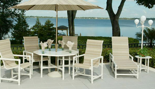 pvc outdoor patio furniture plans florida replacement slings aluminum